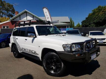 2010 Nissan Patrol GU VII ST (4x4) White & Black 4 Speed Automatic Wagon