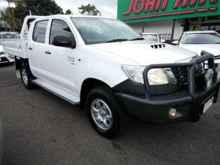 2012 Toyota Hilux KUN26R MY12 SR (4x4) White 5 Speed Manual Dual Cab Mount Gravatt Brisbane South East Preview