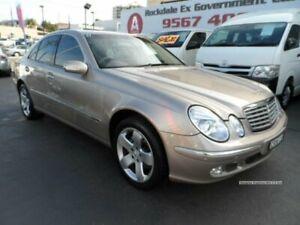 2003 Mercedes-Benz E500 211 Elegance Beige 5 Speed Auto Touchshift Sedan Rockdale Rockdale Area Preview