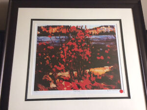 Tom Thomson print - Red Trees