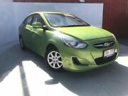 2013 Hyundai Accent RB2 Active Green Apple 4 Speed Sports Automatic Sedan Townsville Townsville City Preview