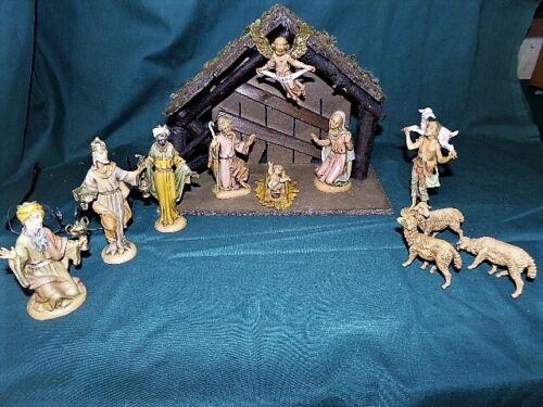 Vintg Fontanini Depose Nativity Set 12 Pieces including Manger/Creche Italy