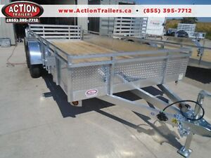 DELUXE ALL ALUMINUM 7 X 16' LANDSCAPE TRAILER - BUILT HEAVIER London Ontario image 1