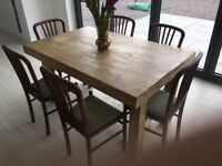 6 wooden dining chairs - lots of character - Refubishment needed