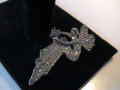 NWT 925 STERLING SILVER FAIRY PIN AND OR PENDENT
