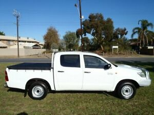 2011 Toyota Hilux KUN16R MY12 SR White 5 Speed Manual Dual Cab Pick-up Albert Park Charles Sturt Area Preview