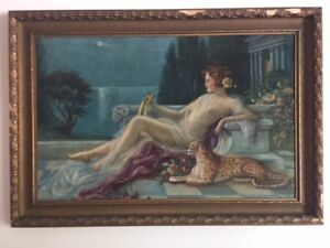 Original Oil on Canvass Empress with Leopard by Wilkie 1800