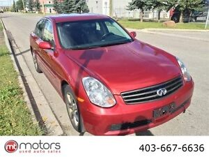 2005 Infiniti G35x LOADED, LOW KM, FULLY INSPECTED