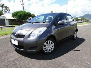2011 Toyota Yaris NCP90R 10 Upgrade YR Silver Grey 5 Speed Manual Hatchback Bungalow Cairns City Preview