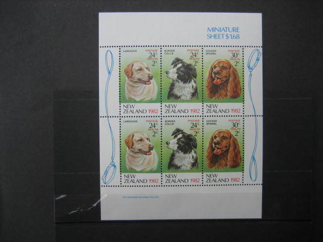 NEW ZEALAND 1982  HEALTH MINIATURE SHEET NHM SG MS 1273