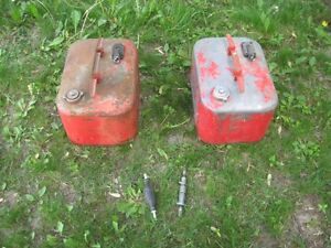 Vintage Mercury Steel Outboard Motor Gas Tanks\ Lot
