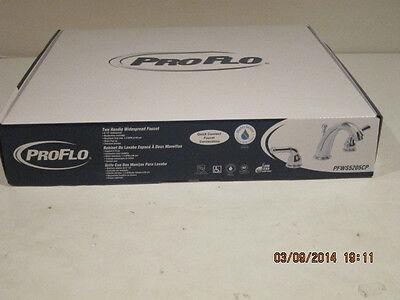 Proflo PFWS5205CP CHROME PLATE Double Lever HandlE Widesprd Bathroom Faucet -NIB