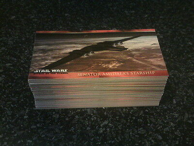 Topps STAR WARS - Attack Of The Clones - Complete Widevision Trading Card Set.
