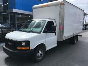 2014 GMC SAVANA 3500 CUBE VAN TRUCK 16 feet just 51.000 km