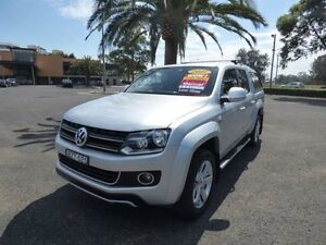 2011 Volkswagen Amarok 2H TDI400 Ultimate Silver 6 Speed Manual 4D UTILITY Cabramatta Fairfield Area Preview