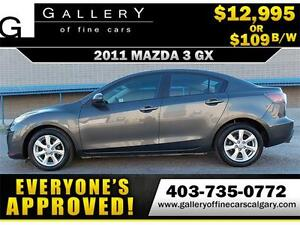 2011 Mazda3 GX $109 bi-weekly APPLY TODAY DRIVE TODAY