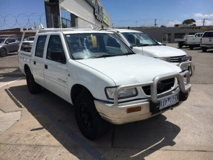 2002 Holden Rodeo TF MY02 LX Crew Cab White 4 Speed Automatic Utility