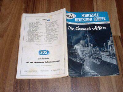 """SOS # 28 -- die COSSACK-AFFÄRE // Motortankschiff """"Altmark""""  / 1. Auflage  1953"""
