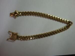 """10k 24.02 8"""" grams Gold Bracelet with double locking clasp"""