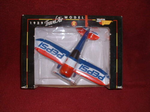 """PEPSI-COLA Collectible 1929 """"TRAVEL AIR Model R"""" DIECAST METAL COIN BANK"""