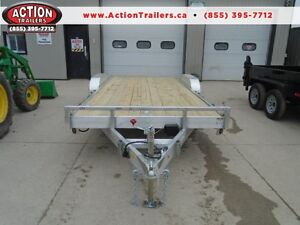 18' ALUMINUM CAR HAULER - UNBEATABLE PRICE, MORE FOR YOUR MONEY
