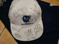 ANNIVERSARY SALE  ARGO '91 TEAM-SIGNED CHAMPS HAT REDUCED PRICE