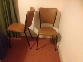 2 x 1960's Attractive Kitchen Chairs