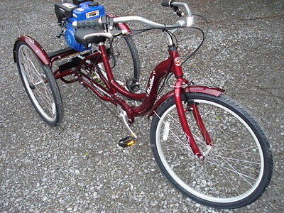DVD, CONVERT YOUR ADULT TRIKE TO GAS POWERED 3 WHEEL SCOOTER