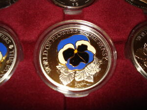 2009 COOK ISLANDS 5$ SILVER FIRST COIN IN A SERIE - WORLD OF FLOWERS -THE PANSY - Gdynia, Polska - 2009 COOK ISLANDS 5$ SILVER FIRST COIN IN A SERIE - WORLD OF FLOWERS -THE PANSY - Gdynia, Polska
