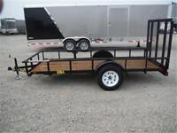 5 x 12 Utility Trailer - Rampgate - 2995# GVWR - TAX IN PRICES!