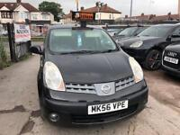 2007 Nissan Note 1.6 AUTOMATIC, BLACK, HALF LEATHER SEATS,