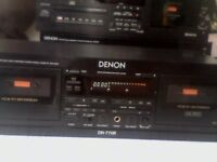 BEAUTIFUL DENON DN-770R DOUBLE CASSETTE DECK. STUDIO-STANDARD & UK RARITY. FULLY TESTED & WORKING.