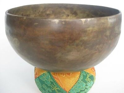 "Tibetan Singing Bowl ~ 7"" FE Aum mantra, unique Nepal bell"