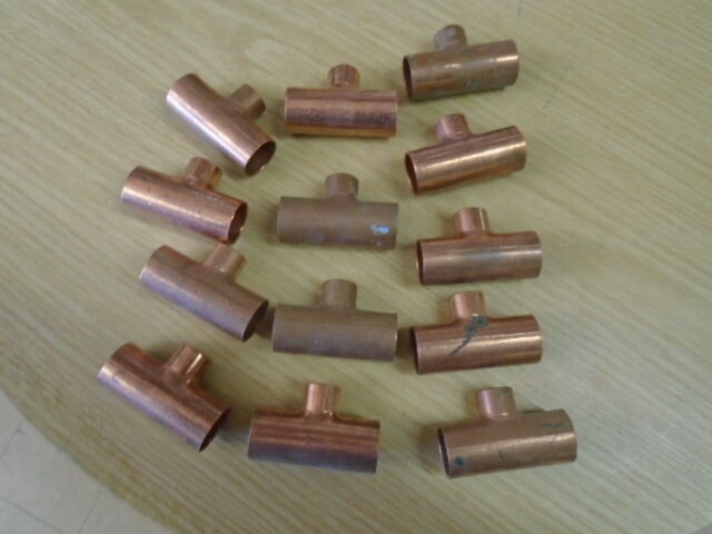 NIBCO 3/4 X 3/4 X 1/2 INCH CXCXC RIDGID COPPER PIPE REDUCING TEE SWEAT LOT OF 6