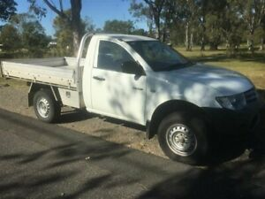 2013 Mitsubishi Triton MN MY12 GL White 5 Speed Manual Cab Chassis Rocklea Brisbane South West Preview