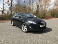 2011 FORD FOCUS 1.6 ZETEC (NEW MODEL) BLACK PETROL MOT ONE YEAR GREAT CAR MUST SEE £4750 OLDMELDRUM