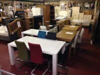 New White Dining table with 4 chairs Only £349 in stock
