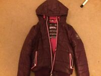 Superdry Jacket - Womens Purple ( Size - Small )