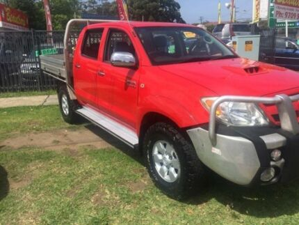 2008 Toyota Hilux KUN26R MY09 SR5 Red Manual Utility Yagoona Bankstown Area Preview