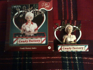 """I Love Lucy Christmas Ornament. Titled """"Candy Factory Antics """""""