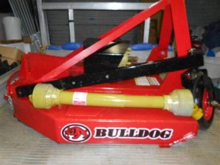 Bulldog 4ft Tractor slasher with slip clutch pto shaft wheel kit Bellbird Park Ipswich City Preview