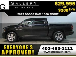 2013 DODGE RAM SPORT CREW **EVERYONE APPROVED** $0 DOWN $209/BW!