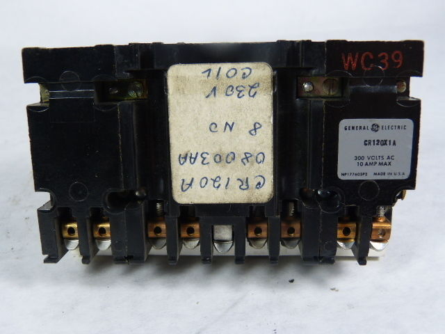General Electric CR120X1A Time Delay Relay 300V AC 10 Amp  USED