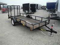 5 x 14 Utility Trailer - Rampgate - 2995# GVWR - TAX IN PRICES!