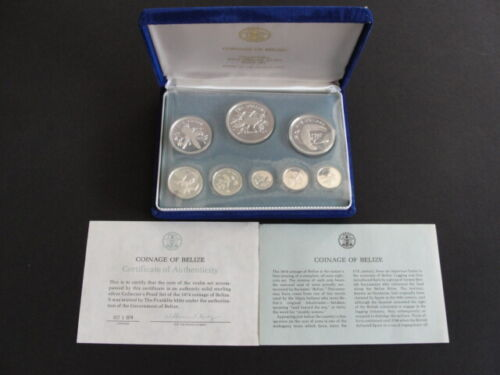 Belize 1974 Solid Sterling Silver 8 Coin Proof Set KM#PS2