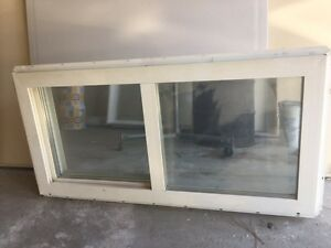 Two sliding windows, $50 and $100, and glass door $150