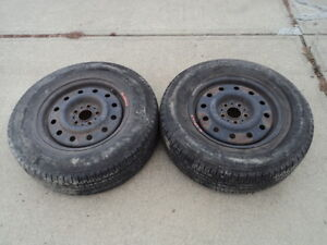 2 Nokian Tires with Rims for Ford Vehicles