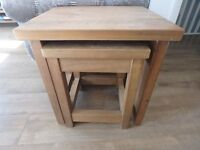 Oak Nest of Tables (2) By Next from there Hudson Range - Other items available