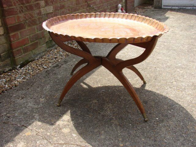 Large Oriental Eastern Copper Tray Top Coffee Table Platter In Ringwood Hampshire Gumtree