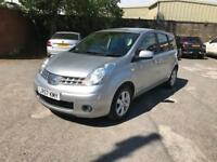 57 Reg Nissan Note 1.4 16v Acenta 5 door - long MOT